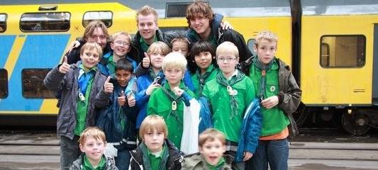 Groepsfoto Middaghorde Welpen Herfstkamp 2010